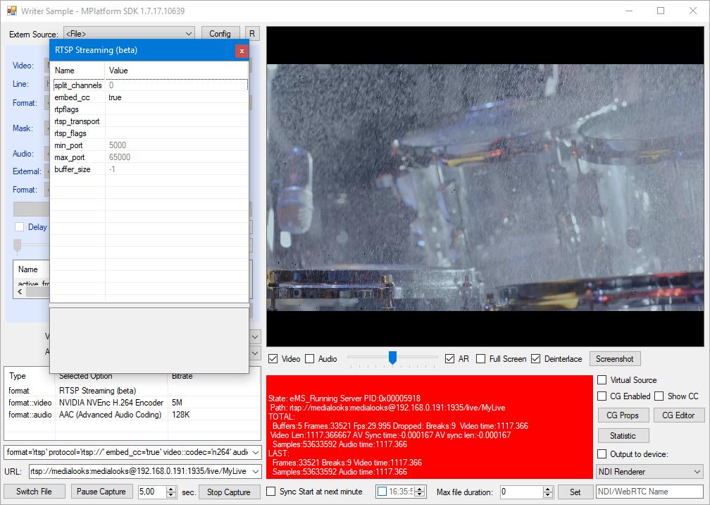 RTSP streaming – Medialooks Help Center
